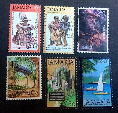 Jamaica - 6 old used stamps / 14