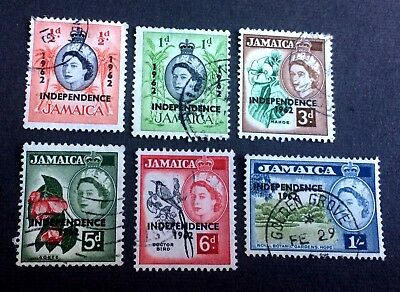 Jamaica Independence 1962 - 6 old used stamps