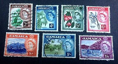 Jamaica 1956 - 7 old used stamps