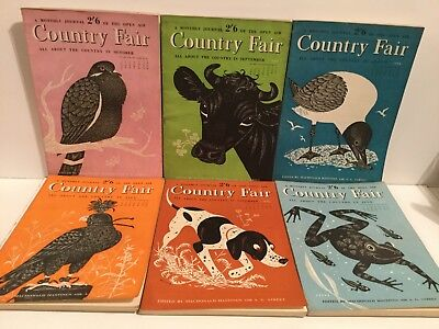 Vintage COUNTRY FAIR MONTHLY JOURNAL'S -  JobLot of 6 from 1954 - Good Condition