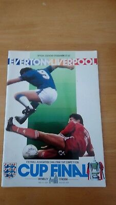 Everton V Liverpool - 1986 F A Cup Final Programme