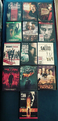 Dvd Lot Of 13 Movies, Watched Once Or Never Watched