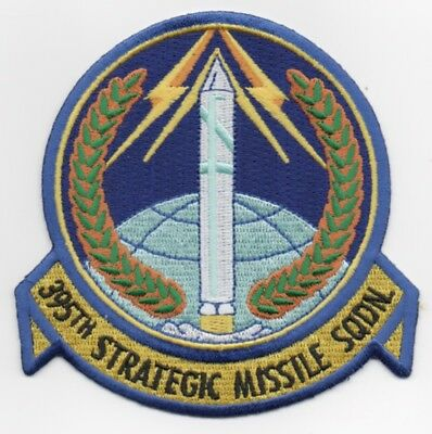"USAF Patch 395th STRATEGIC MISSILE SQDN, 4"" Size Reproduction. Era: 'Early 1960s"