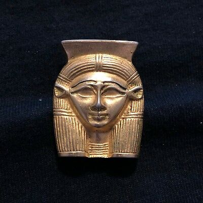 Vtg Metropolitan Museum Of Art MMA Gold Tone Egyptian King Tut Mask Brooch