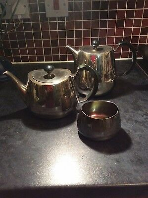 David Mellor Pride Design Three Piece Tea Set C.1959 Walker & Hall