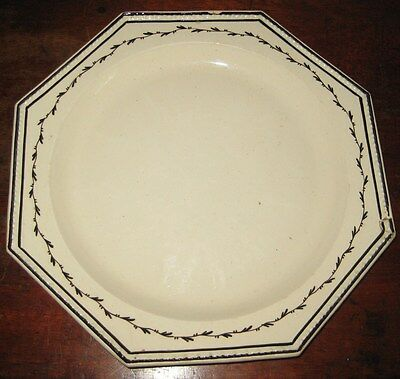 English Late 18Th Century Creamware Plate Probably Yorkshire