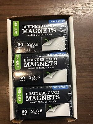 """300 Business Card Magnets - Self Adhesive Peel & Stick  2""""x3.5"""""""