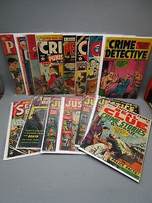 Golden Age Comic Book Lot of 15 Crime Justice Police Detective Dick Tracy