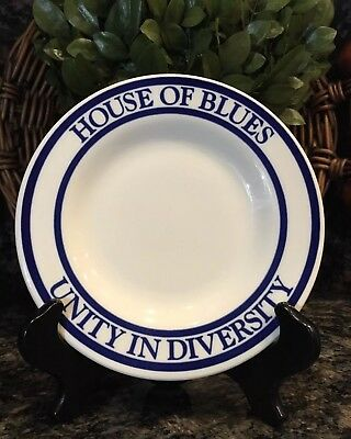 Very Rare HOUSE OF BLUES ~ UNITY IN DIVERSITY Syracuse China Plate PRISTINE!