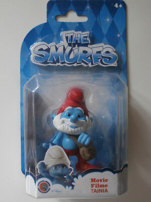 GRANDE PUFFO snodabile Blister nuovo! Rare Playset THE SMURFS MOVIE FILM NEW!