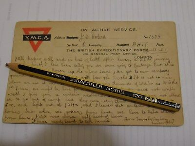 y.m.c.a. postcard on active service passed by censor no.864