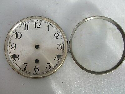 Mantel clock face part  with glass.