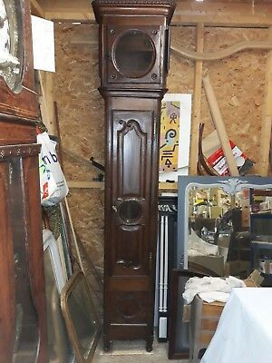 Antique Oak Longcase Clock  BODY ONLY Grandfather clock.french