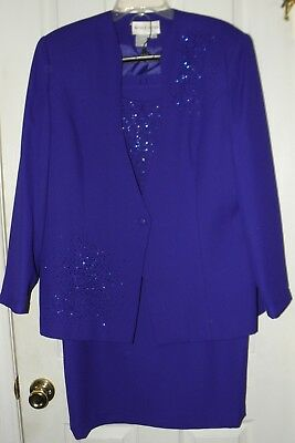 Womens Nicole Nites 2-Pc. Blue Mother Of The Bride Suit, Embellished, 18