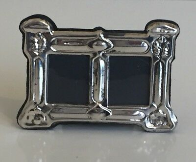 Small Sterling Silver Double Window Picture Frame