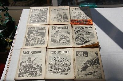 9 x Early War Picture Library /Thriller Picture Library 1960-1970