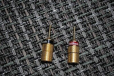 NEW RadioShack Gold Plated Deluxe Pin Connectors 2