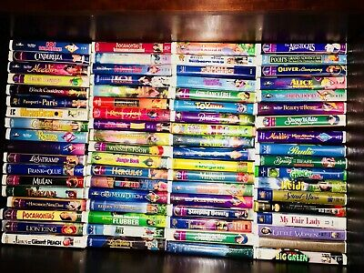Disney VHS Collection some Black Diamonds plus extras 72 Total