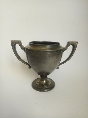 Vintage Old Lovely Tin Silverplate Miniature Trophy Cup Champion FORBES