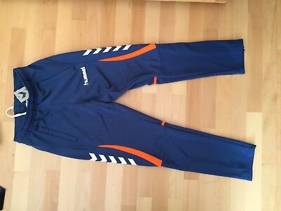 Hummel, Jogginghose, Trainingshose, blau, orange, Gr. XL, player, Größe XL, NEU