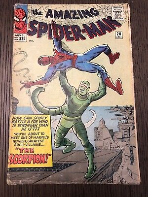 Amazing Spider-Man #20 (Marvel, January 1965); 1st appearance of The Scorpion