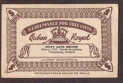 Redeemable For For Free Gifts , Quban Royal , Fancy China, Vintage Coupon