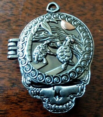 Grateful Dead pin- 3d hinged front- Pocket Watch Spinner pin, Dead&Co, Hatpins