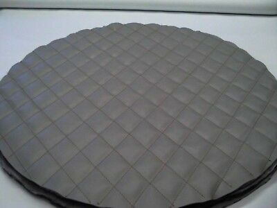 Semi Truck Fuel Tank Covers Peterbilt  Gray Quilted Diamonds In Gray Set Of 2