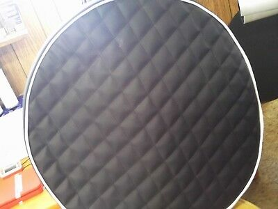 """Peterbilt fuel tank cover set of 2 for 26"""" tank Black quilted with white trim"""