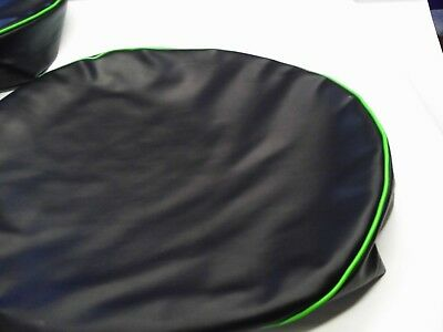 """Peterbilt fuel tank cover set of 2 for 23"""" smooth with green trim"""