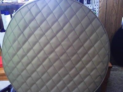 """FUEL TANK COVERS PETERBILT 26""""  Tan  SET OF 2 QUILTED"""