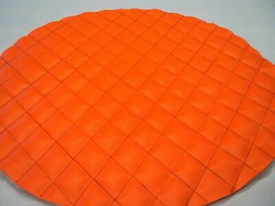 """Kenworth Fuel Tank Covers Set Of 2 Orange Quilted With Orange Size 24 1/2"""""""