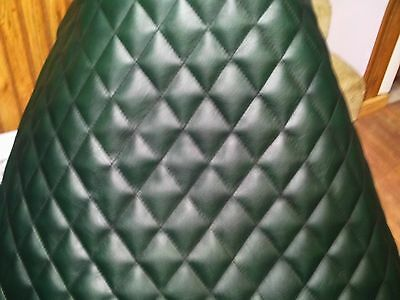 Semi Truck  Air Cleaner Vinyl Wrap Custom Quilted Green