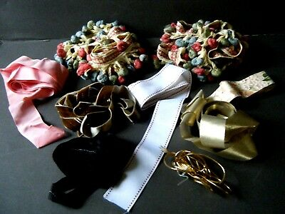 Old Vintage good lot of ribbons and some trims good yardage