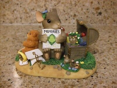 Charming Tails TREASURE OF MEMORIES Special ED. Figurine In Box- Fitz & Floyd