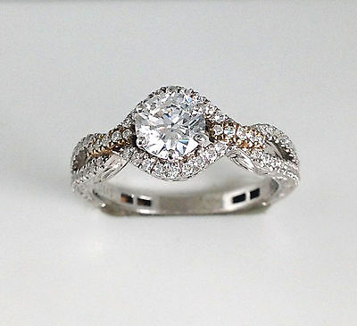 1.11 CT Engagement Ring Solid Sterling Silver Round Brilliant CZ Preset Setting