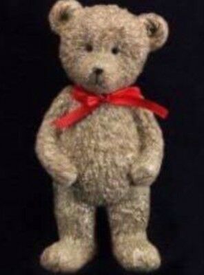 Gisela Graham Vintage Victorian Standing Teddy with Red Bow Christmas Decoration