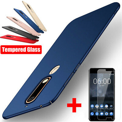 Matte Slim Hard Back Case Cover + Tempered Glass For Nokia 6 2018 3 5 8 2017 X5