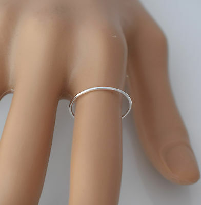 925 sterling silver plain thin band ring
