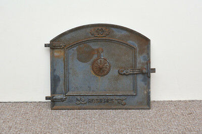 44 x 37.5 cm cast iron fire door clay / bread oven door / pizza stove doors