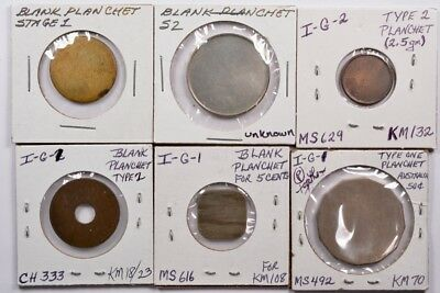 (6 coins) Group of foreign planchets