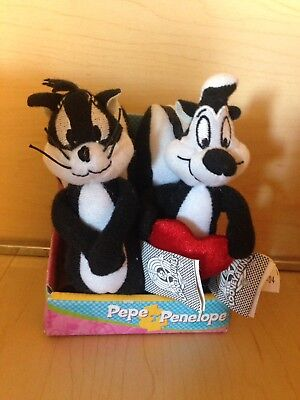 Pepe Le Pew And Penelope Mini Plush Still In The Box