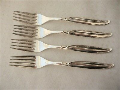 Replacements 1847 Rogers Flair Dinner Forks X Four (4) Silver Plate 10142
