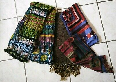 Lot Of 4 Scarves-Assorted Colors,Styles And Sizes