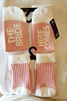 No Boundaries Novelty Bride/bridal Party Crew Socks-Size 4-10 (1-Pr)
