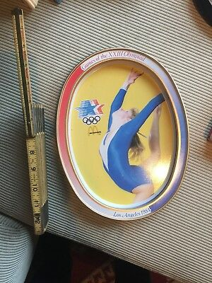 McDONALD'S METAL TIN OVAL TRAY 1984 OLYMPICS LOS ANGELES COLLECTIBLE #2
