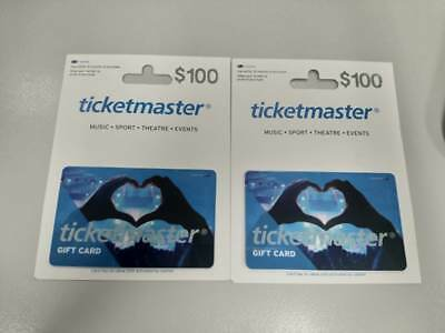 Ticketmaster Gift Cards $200 total exp 31/12/18
