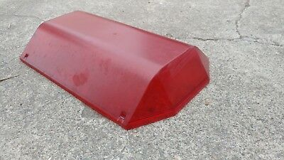 CODE 3 EXCALIBUR MX-7000 red PLASTIC Lens Cover Preowned