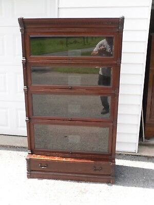 Globe Wernicke IDEAL Mahogany Barrister Bookcase / Beveled Glass (VERY RARE)