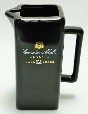 Canadian Club Classic Aged 12 Years Small Bar Pitcher with Handle Black & Gold